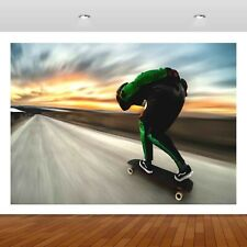 Extreme Sports Skateboarding Jump  3D Mural Decal Wall Sticker Poster Vinyl S298