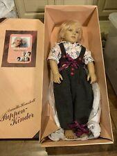 1988 Annette Himstedt 1146 World Child 31� Puppen Kinder Boy Doll Coa Kasimir