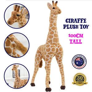 100cm Large Giraffe Plush Toy Stuffed Animal Doll Kids Christmas Gift Adjustable