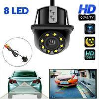 170° HD Car Rear View Backup Reverse Camera 8 LED Night Top N2K5 Visi Water X1A4