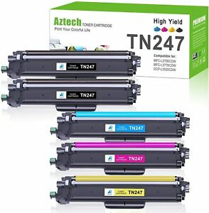 5 Toner Cartridge Compatible Brother TN247 DCP-L3510CDW DCP-L3550CDW DCPL3517CDW