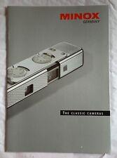Minox, The Classic Cameras, Product Brochure