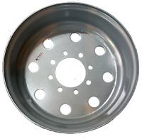 "17.5"" Inch Trailer Wheel Silver Single Rim - 8 lug x 6.75 - 4.75"" Single Steel #"