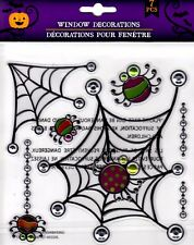 Halloween Window Cling Stickers 7 Count ~ Spiders & Webs