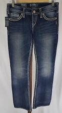 SILVER JEANS NWT Low Rise Pioneer Flap Distress Bootcut Jeans Womens Size 27X32