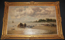 August Gottfried Ludwig Fricke (1829-1894) Original On The Island Of Rugen 1890