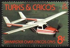 CESSNA 336 SKYMASTER Light Civil Aircraft Mint Stamp (1982 Turks & Caicos)