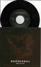 Black Sabbath HEAVEN & HELL Bible Black & LIVE TRK 7 INCH VINYL Ronnie James Dio