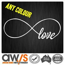 LOVE INFINITY STICKER DECAL TATTOO FOR GIRLS CAR WINDOW WALL CUTE GIRLY LOVE