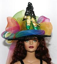 Rainbow Green Slippers Gold Wand Pin Salem Witch Hat #16 Doll Bottle Ornament