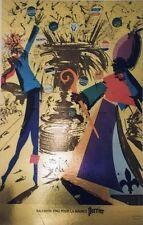 """""""SALVADOR DALI POUR LA SOURCE PERRIER"""" Affiche originale cartonnée 1969 36x54cm"""
