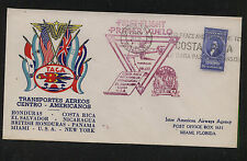 Costa  Rica     Taca  colorful cachet flight cover  1943      BX0511