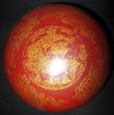 BOITE KOGO URUSHI LAQUE JAPONAISE JAPON RICE BOWL japanese RED LACQUER BOX