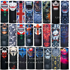 Skulls Clown Joker Neck Tube Warmer Mask Scarf Snood Biker Balaclava Bandana