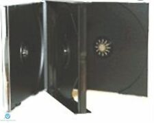 100 x 3 Way Black CD Jewel Case 23mm Spine Holds 3 Discs Replacement case