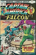 CAPTAIN AMERICA #184 8.5 VF+ FEA: THE FALCON & RED SKULL!