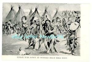 Sideshow/Circus -INDIAN WAR DANCE-BUFFALO BILL'S WILD WEST SHOW- Postcard