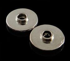120 Metallperlen Spacer 10mm Silber Scheibe Zwischenteile Schmuck Basteln F131