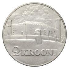 ESTONIA 2 KROONI TOOMPEA CASTLE IN TALLINN KM# 20 SILVER 1930 aUNC