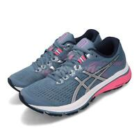 Asics GT-1000 8 Grey Floss Blue Silver Pink Women Running Shoes 1012A460-400