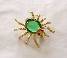 Singed CINER Resin Jelly Belly Spider Jeweled Crystal Brooch Pin