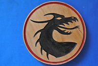 Dragon Magnet Cherry wood Refrigerator Magnet American Made/ Homemade