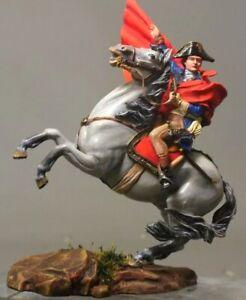 Tin toy soldier 54 mm.Superb Elite Luxury painting in St.Petersburg.Napoleon