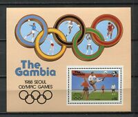 27760) Gambia 1987 MNH New Olympic G. Seoul S/S Bf
