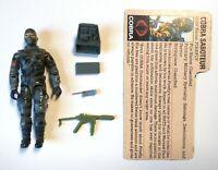 GI Joe Cobra Firefly v1 1984 100% Complete w/ accessories & tan file card