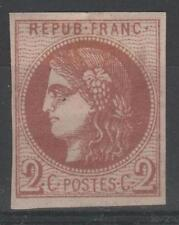"FRANCE STAMP TIMBRE 40 B "" CERES BORDEAUX 2c BRUN-ROUGE "" NEUFx TB SIGNE  N940"