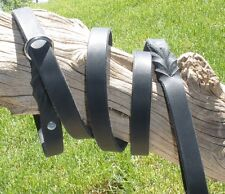 "BLACK LATIGO LEATHER SLIP LEASH 3/4"" X 72"" SILVER OR SOLID BRASS HARDWARE"