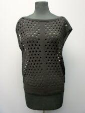 WHITE HOUSE BLACK MARKET Black Boatneck Sleeveless Sweater NWT Sz S DD1329