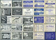 25 alte Gasthaus-Streichholzetiketten aus Deutschland #18