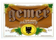 Gemer Polotmavy Beer Label *273
