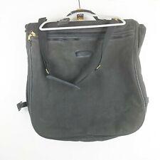 Vintage COACH Black Leather Trimmed Hanging Garment Suit Bag Strap, Hanger, Hook