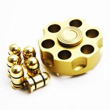 Revolver Bullet Brass Hand Spinner Tri Fidget Steel Ball Desk Toy EDC Kids/Adult