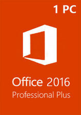 Microsoft Office 2016 Pro Plus 32/64 Bit Product Key Instant Delivery 1 PC