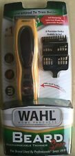 NEW! Wahl Beard Sport Rechargeable Trimmer 8 Precision Blades Non-Slip Grip