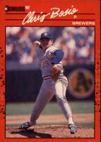 1990 Donruss Milwaukee Brewers Baseball Card #57 Chris Bosio