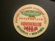 Milk Cap Eastern Dairyfoods Antignish  N.S. 34 MM  Nova Scotia