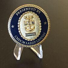 B28 Command Master Chief Larry Linton CMDCM USS Monterey CG 61 Challenge Coin