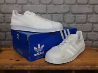 ADIDAS MENS UK 8 EU 42 WHITE PRIMEKNIT SUPERSTAR SHELLTOE TRAINERS RRP £105