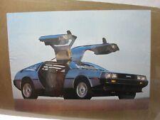 DE LOREAN DMC VINTAGE POSTER BAR GARAGE MAN CAVE 1983 CAR CNG166
