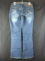 Maurices Blue Jeans 3/4 Short Curvy Stretch Bootcut Low Rise