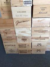 3x Weinkiste Holz 6er Kiste Deko Wein Shabby Chateau Regal Spanien Italien OHK