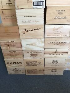 3x Weinkiste Holz 6er Kiste Deko Wein Shabby Chateau Regal Spanien Italien uvm