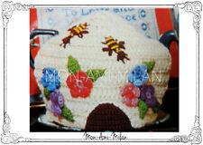 Vintage Crochet Pattern • BEEHIVE TEA COSY TEAPOT COVER POT WARMER • LARGE • DK