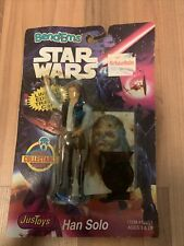 Vintage Star Wars Figure Bend-Ems Justoys Han Solo Chewbacca Carded 1994