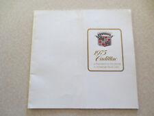 1975 Cadillac advertising booklet Eldorado & Fleetwood & De Ville & Seville