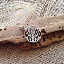 Sterling Silver Flower of Life Pendant 24mm ~Sacred Geometry~Reiki~Jewellery NEW